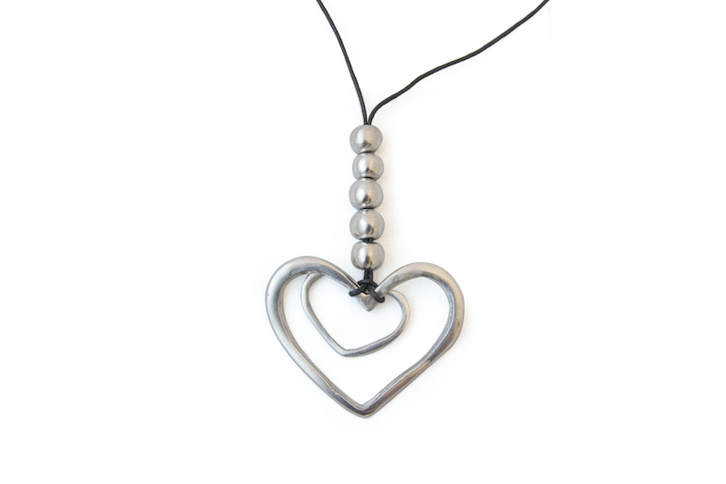 Aluminium heart necklace