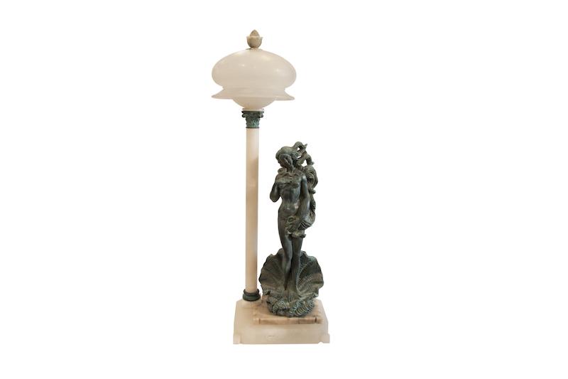 Alabastro e bronzo